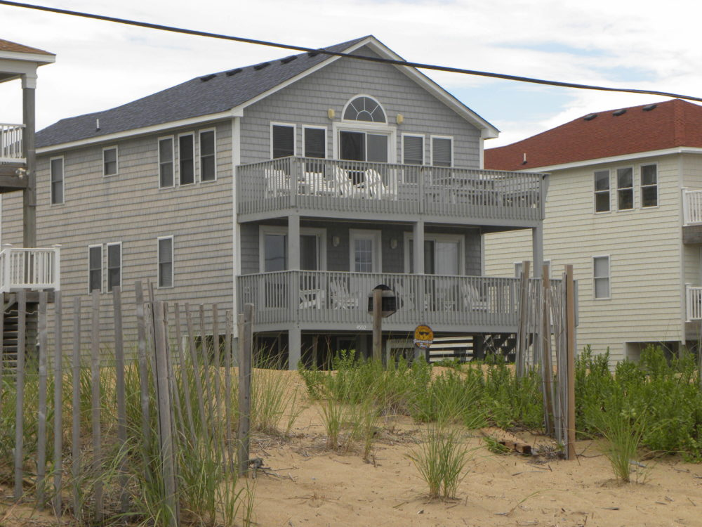 Family travel #familytravel #familyroadtriptips #familyvacation View of beach house from beach. Kitty Hawk, NC OBX.