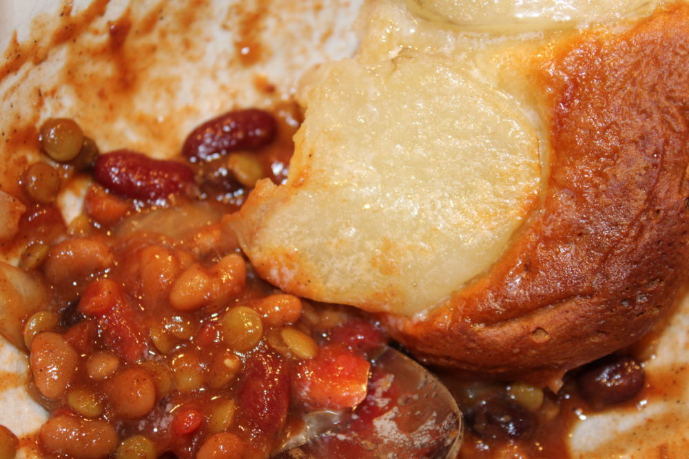 Yummy Easy Sweet Bean Crockpot Vegetarian Chili with Grandma Inspired Biscuits and Potatoes-Easy Sweet Bean Crockpot Vegetarian Chili-crockpot recipes easy-vegetarian recipes healthy-vegetarian meals-vegetarian meal prep-vegetarian recipes easy-vegetarian recipes dinner-meatless meals-meatless Monday-meatless dinners-meatless meals healthy-chili recipe-chili crockpot-chili recipe crockpot-bean chilis recipe-bean chili crockpot-bean chili vegetarian-bean chili recipe vegetarian-hybrid recipe-bean recipes-beans-vegan recipes-football party food-fall food @juliehoagwriter
