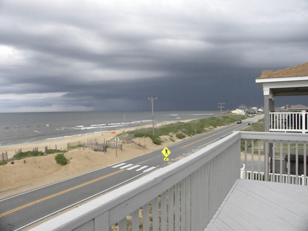 Kitty Hawk OBX. Ocean view from beach house balcony. #familytravel