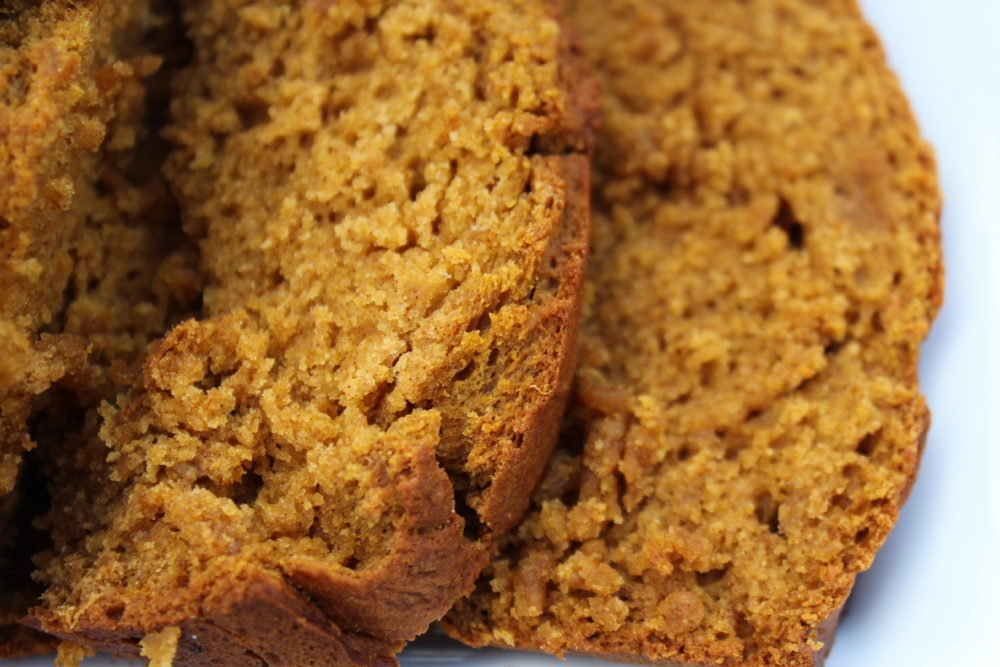 Maple Cinnamon Pumpkin Bread slices
