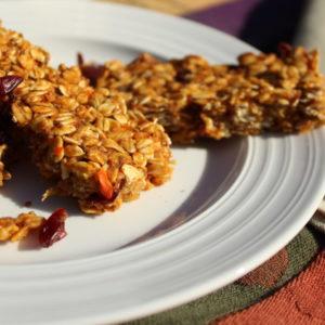 Healthy Chewy Homemade Carrot Banana Granola Bars