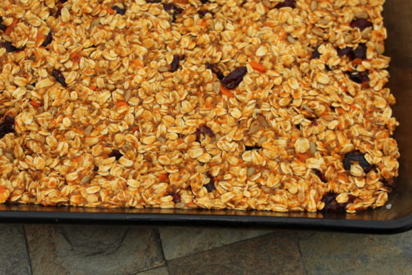 Healthy Chewy Homemade Carrot Banana Granola Bars