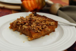 Rich Decadent Butternut Squash Apple Bars a buttery yet healthy comfort food dessert. #fallfoods #fallrecipes #dessertrecipes #thanksgivingrecipes
