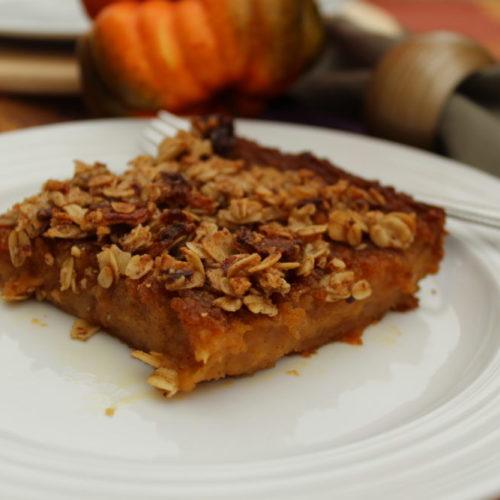 Rich Decadent Butternut Squash Apple Bars a buttery yet healthy comfort food dessert. #fallfoods #fallrecipes #dessertrecipes #thanksgivingrecipes