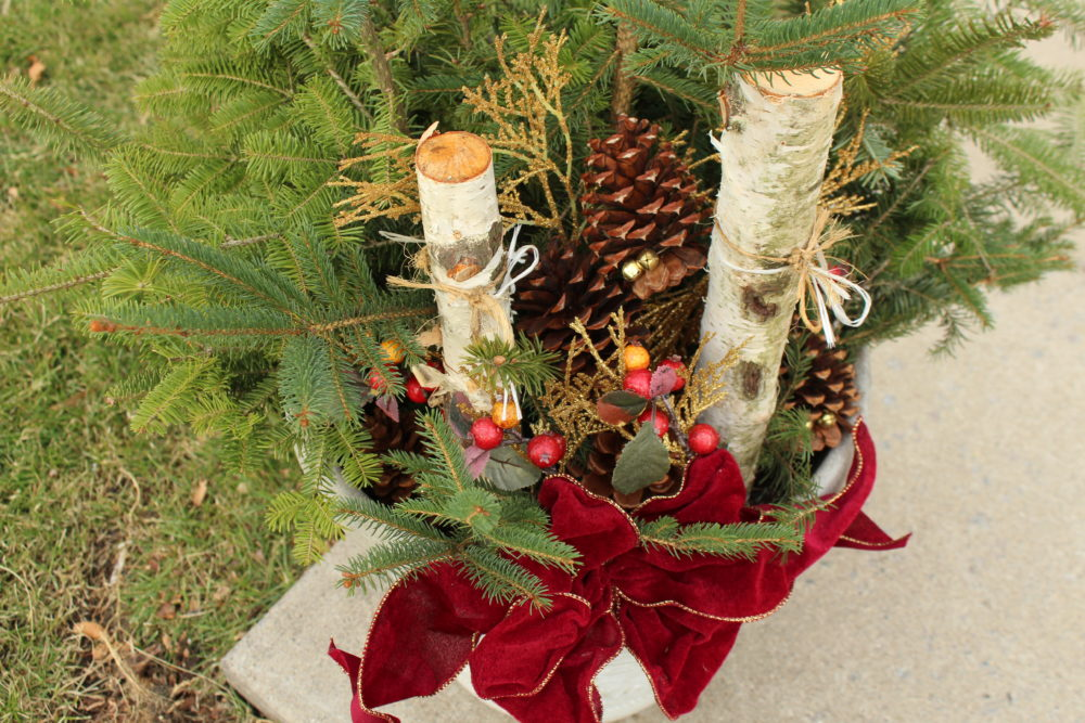 Cheap Outdoor DIY Christmas Decoration for $10. #diy #diyproject #diychristmasdecoration #homedecor #outdoorchristmasdecoration #decoratingforthehholidays #upcycle #cheapdiy #decorate