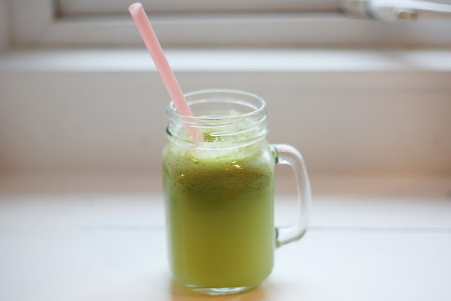 Easy Green Skin Boosting Juice: A Simple Green Juice #juice #vegetarian #meatlessmonday #breakfast #snack