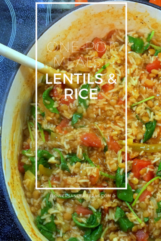 Lentils and Rice An Amazing One Pot Vegetarian Recipe #vegetarian #vegetables #lentils #vegetarianrecipe #meatless #meatlessmonday #dinner #maindish #rice #recipe