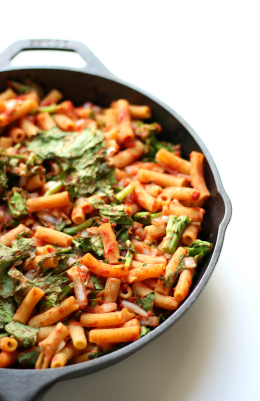 Sweet-Tomato-Broccoli-Rabe-Baked-Penne-gluten free vegan allergy free recipe. #vegetarian #vegan #vegetarianrecipe #veganfood #veganrecipe #meatlessmonday #meatless #dinner #dinnertime #pasta #broccoli #vegetable #glutenfree #allergyfree