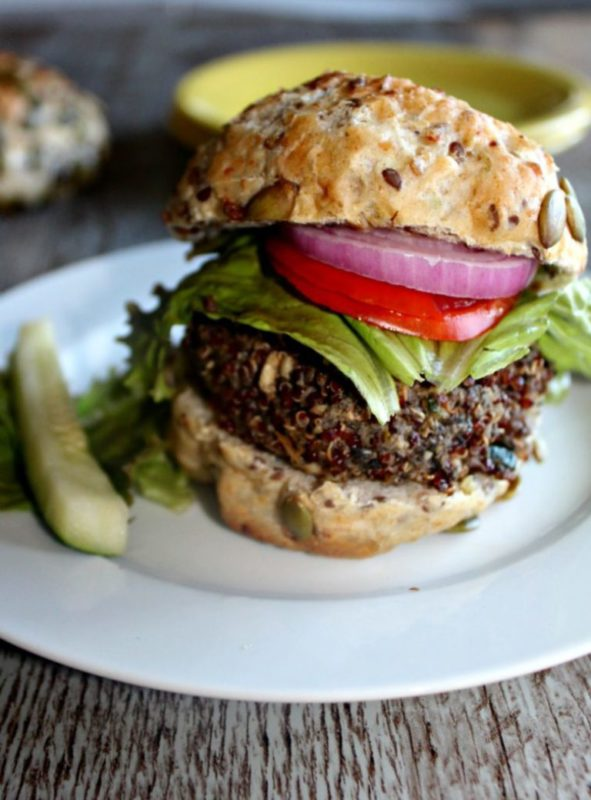 Mushroom Veggie Burger Gluten free vegan recipe. #vegan #veganfood #veggieburger #veganburger #vegetarianburger #vegetarianrecipe #meatlessmonday #meatless #dinnertime #dinnermeal