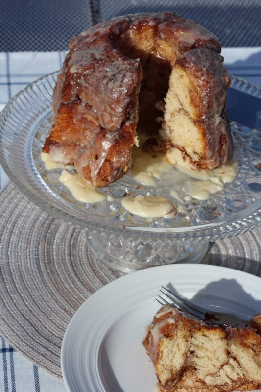 Easy Cinnamon Biscuit Monkey Bread recipe for brunch, breakfast, or dessert. Easy to make and quick prep. #breakfast #breakfastrecipe #monkeybread #bread #brunch #brunchideas #dessert #desserttable #treats #sweettreats #cinnamon #easyrecipe #easyrecipes #biscuit