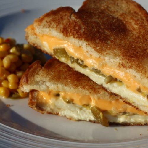 Easy Delicious Jalapeno Grilled Cheese Sandwich with 2 Cheeses