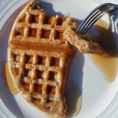 Homemade Comfort Food Apple Pie Spice Waffles