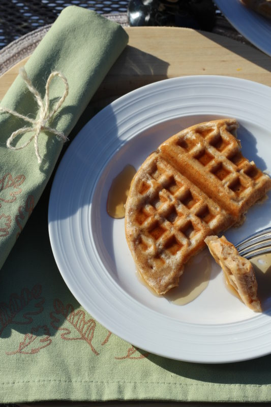 Homemade Comfort Food Apple Pie Spice Waffles. Homemade waffle recipe. Breakfast recipe, brunch recipe #breakfast #breakfastrecipes #breakfastlovers #waffles #easyrecipe #easyrecipes #brunch #brunchideas #comfortfood #kidfriendly #kidfriendlyrecipe #foodblog #foodblogger juliehoagwriter