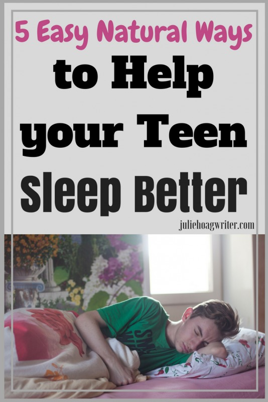 Getting enough sleep as a teen is very important but often difficult to attain. Read this post for 5 Easy Natural Ways to Help Your Teen Sleep Better
