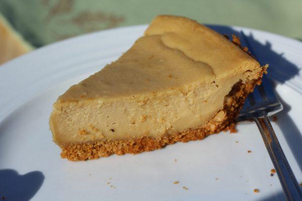 Cookie Butter Cheesecake Crumbly Cashew Graham Cracker Crust dessert recipe