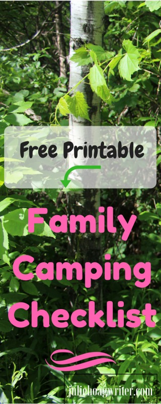 Camping Weekend Trip Packing List for Fun Frugal Easy Family Time. Camping with family creates great memories. Read tips for camping with family, camping with kids, camping with dogs, and for ideas for cooking plus must have items for camping. Camping checklist and camping hacks too. #camping #campinghacks #campingwithkids #campingwithdogs #familycamping #juliehoagwriter #campingwithkids #frugalliving #getaway #familytravel #familyvacation #vacationtips #weekend #frugal #cookingtips #campvibes