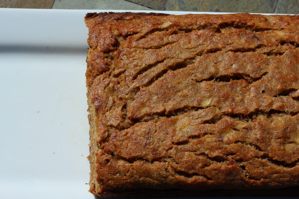 Healthier Moist Whole Wheat Banana Bread Recipe loaf of bread, a great homemade recipe with fruit for breakast, brunch, snack, or dessert. Less sugar than traditional banana bread recipes. #homemade #homemaderecipes #bread #breadrecipe #breakfastlover #wholewheat
