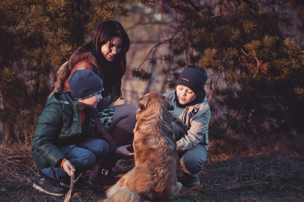 5 Fun Harmless Memorable Rule Breakers Kids Love Mom with kids and a dog