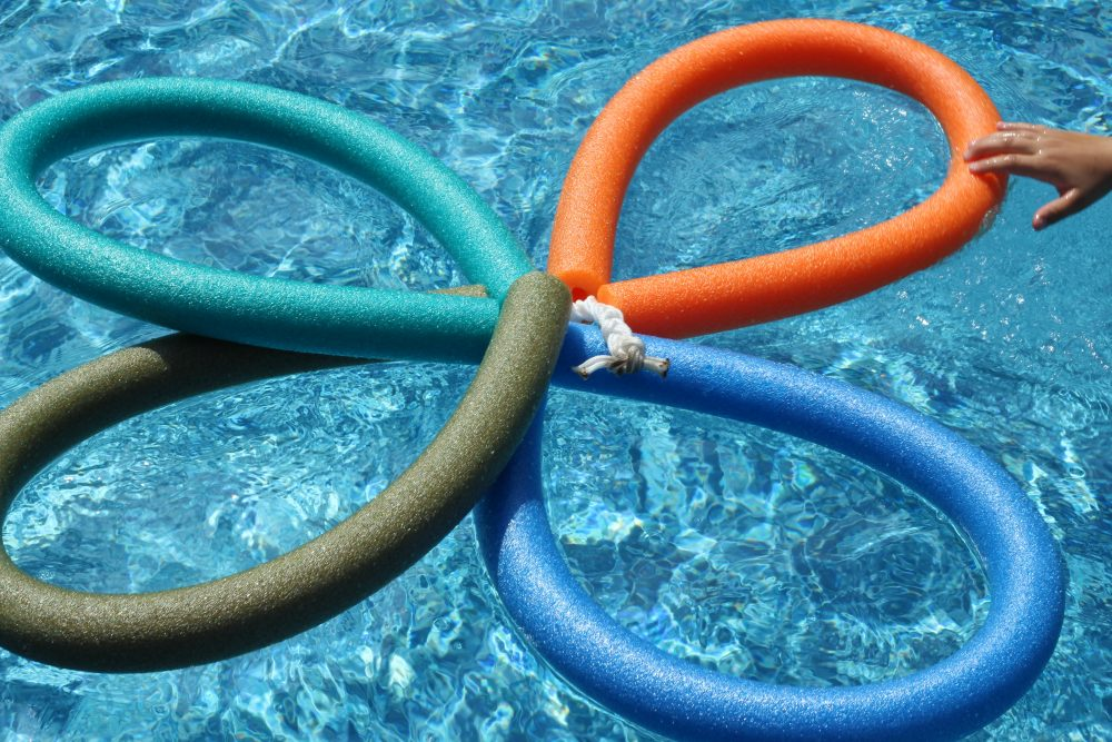 DIY Pool Floaty Toy Made with Pool Noodles fun versatile pool toy.
