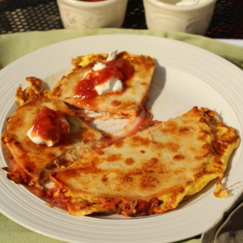 Easy Quick Breakfast Quesadilla Recipe 8 Minute Cook Time