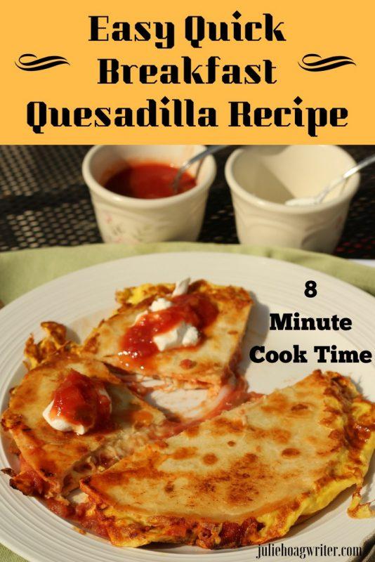 Easy Quick Breakfast Quesadilla Recipe 8 minute recipe