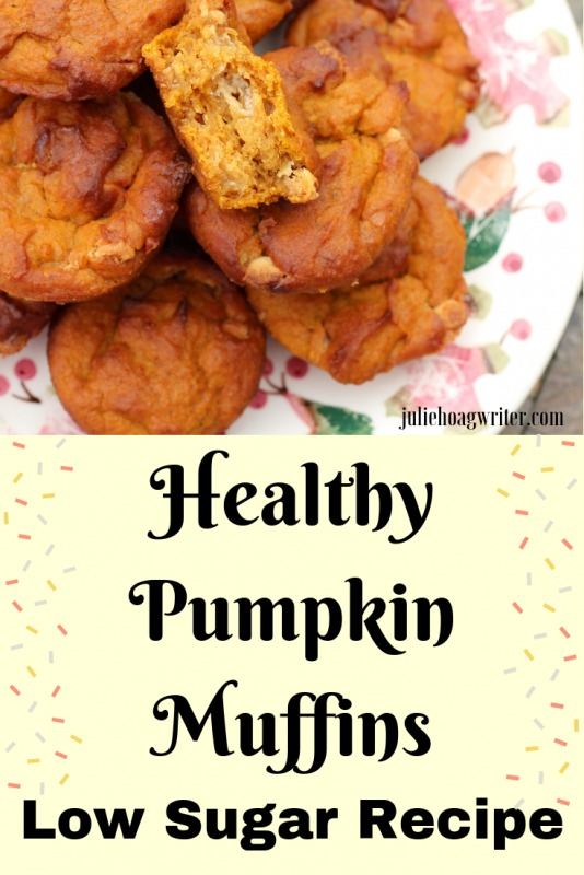 Healthy Pumpkin Muffins Low sugar recipe for breakfast, brunch, snack