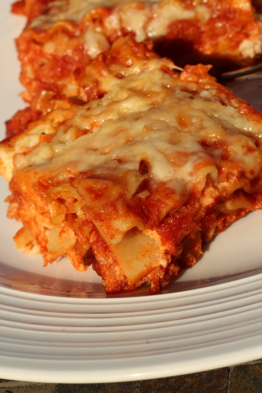 Hybrid Recipe Parsnips Homemade Lasagna Recipe for a Split Table of Vegetarians & Meat-Lovers meatless dish. A tasty vegetable lasagna for families. Hybrid recipe for multi diet families. Dinner recipes for split table homes.
