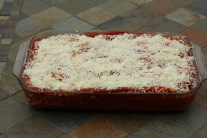 Ready to cook Hybrid Recipe Parsnips Homemade Lasagna Recipe for a Split Table of Vegetarians and Meat
