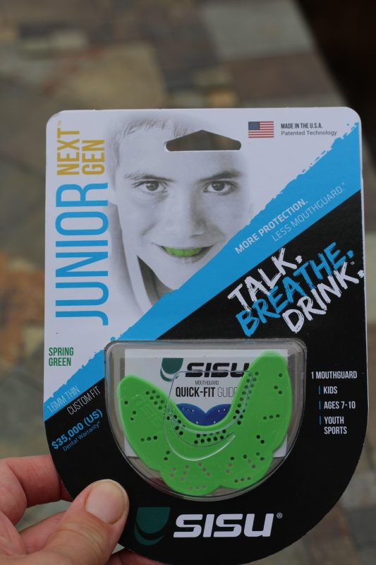 SISU thin youth comfortable custom mouth guard. Perfect for kids who gag on mouth guard in youth sports. Contact sports equipment for kids.