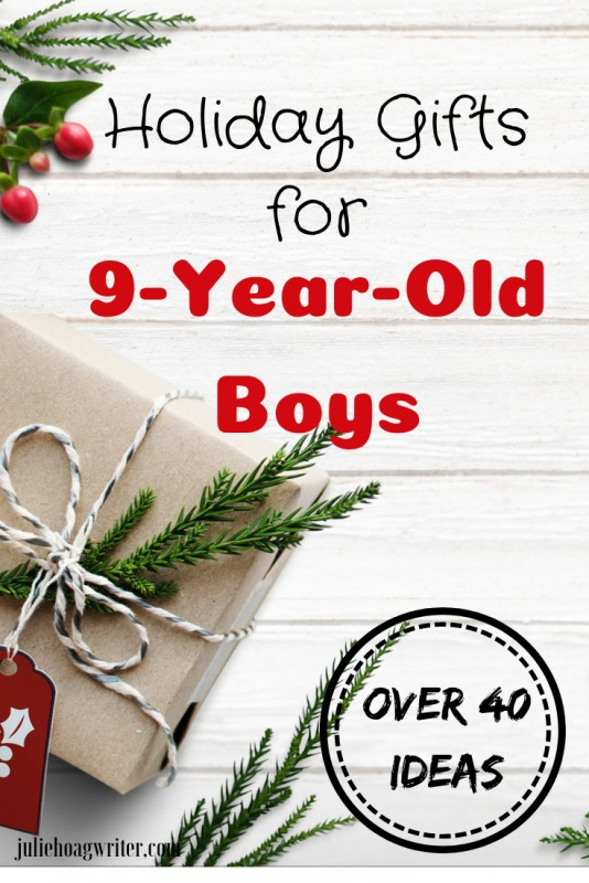 Holiday gifts for 9-year-old boys, Christmas presents for boys. Holiday shopping for a son. Gift guide for boys with educational toys, active toys, books, and creativity toys.