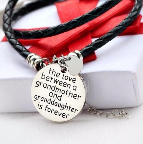 Jewelry for grandmas from granddaughters. Stamped jewelry for holiday gifts for her.