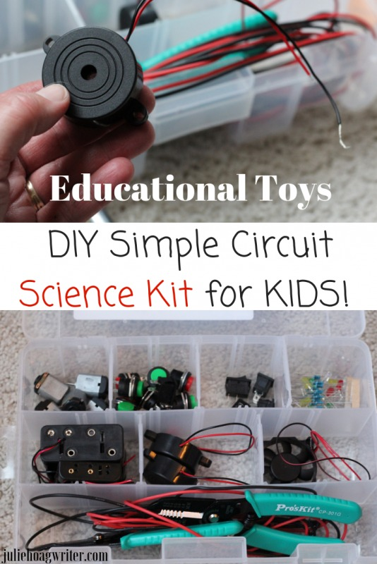 Educational Toys DIY Science Kits for Kids. Make your own circuits. Creative kits for learning for kids. Homemade kit for holiday gifts, Christmas presents, or birthday present with a STEM focus.