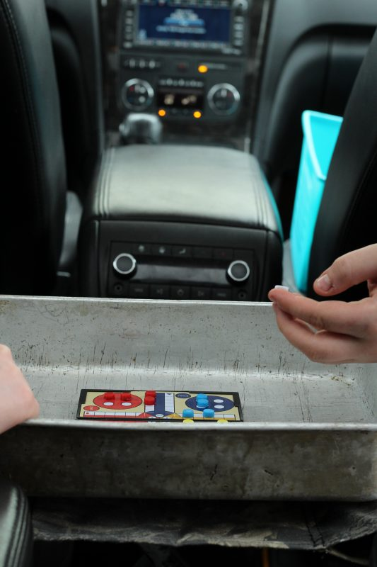 Best Travel Games Kids Will Love for a Road Trip travel game mom hack using a pan.