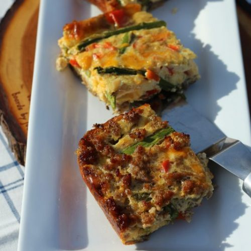 Low Carb Quiche with a Mushroom Whole Wheat Crust