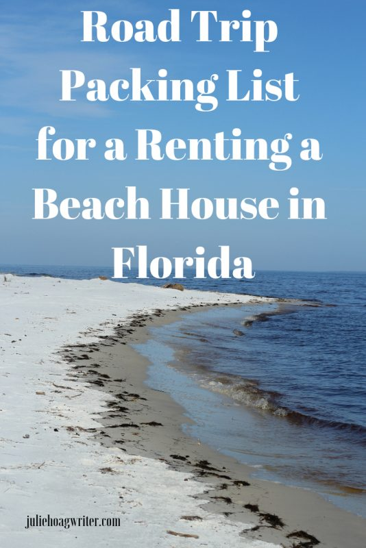 Road Trip Packing List for a Beach House in Florida. Family vacation packing tips for renting a beach house on the Gulf of Mexico beach. Beach House rental packing list.