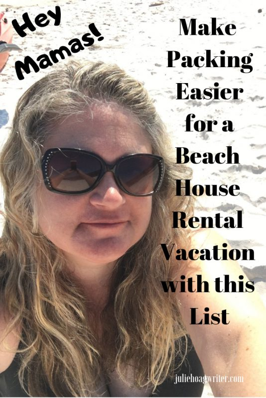Road trip packing list for a family vacation to a beach house rental on the ocean. Family packing tips for a family trip to the beach. What to pack for a rental house on the ocean.