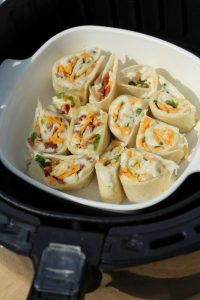 Air Fryer Recipe Mashed Potato Rolls a party food appetizer recipe. Great tasty snack ,make it meatless and with meat. A great way to use up letover mashed potatoes.