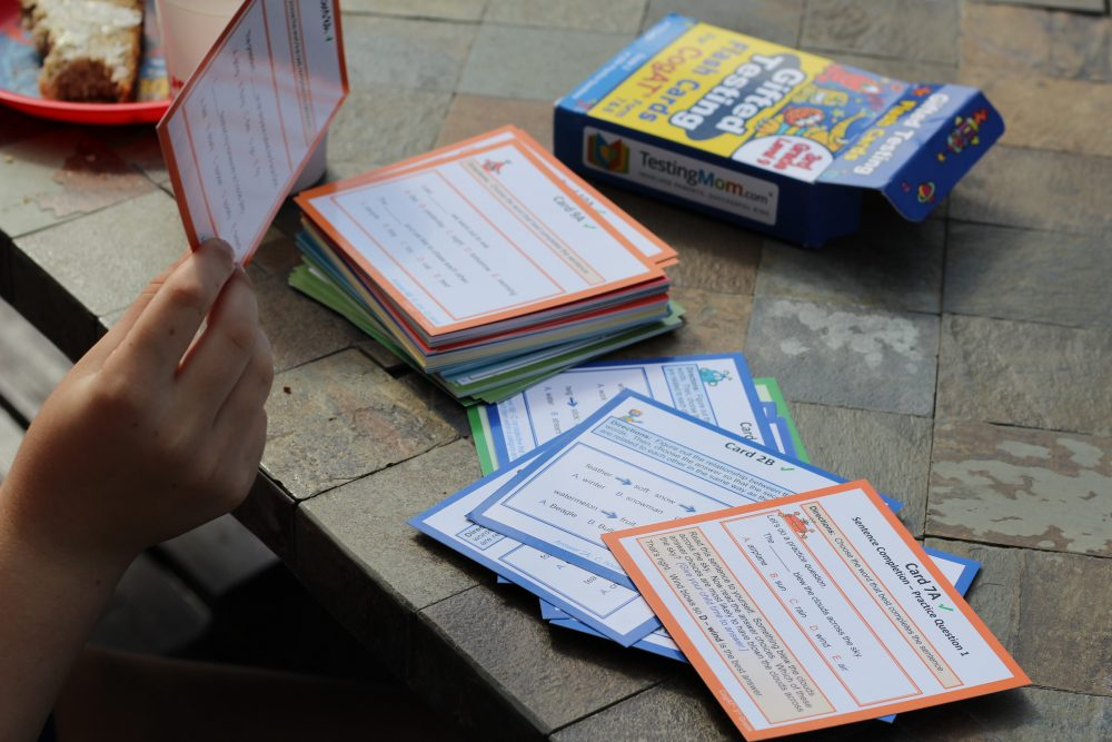 Standardized test practice for Elementary School aged kids flash cards and test prep cards for kids
