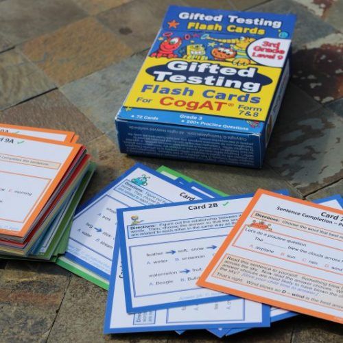 Standardized test practice for Elementary School aged kids flash cards and test prep flash cards test strategy