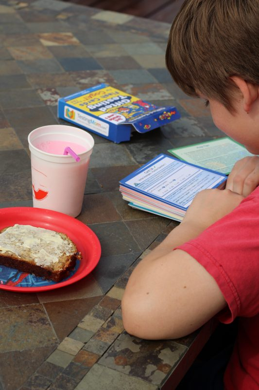 Standardized test practice for Elementary School aged kids flash cards and test prep snack. Testing strategies for parents and kids. Improve test scores.