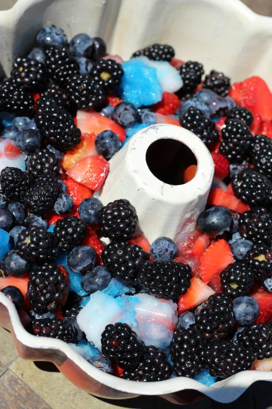 Berry bomb pop fruit salad for a summer Fourth of July Party