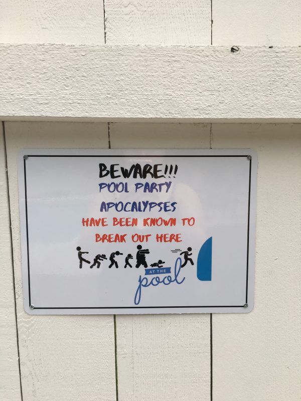 Custom Metal Signs for a pool party