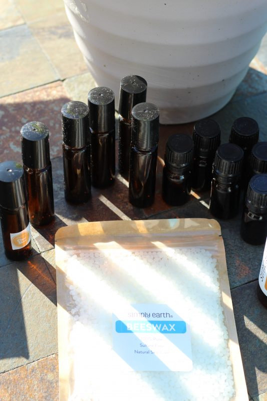 Pure essential oils bottles for recipes self care for women