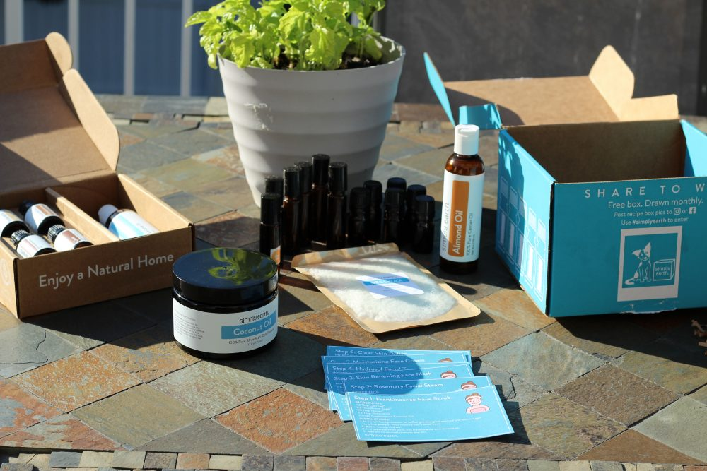 the box components for the pure essential oils skincare box