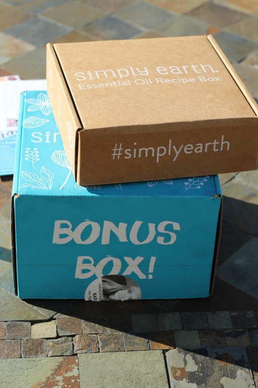 the box of pure essential oils for clear skin from simply earth