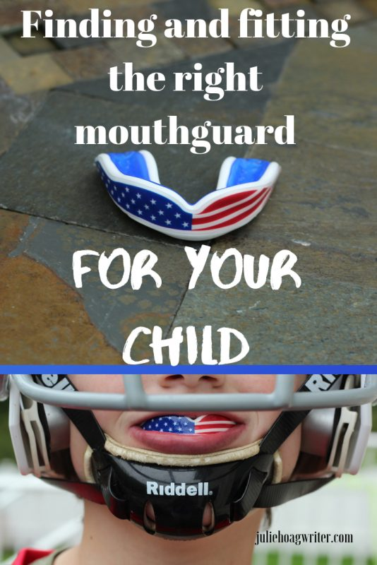 Finding and fitting the right mouthguard for your child. Protective gear for youth sports players.