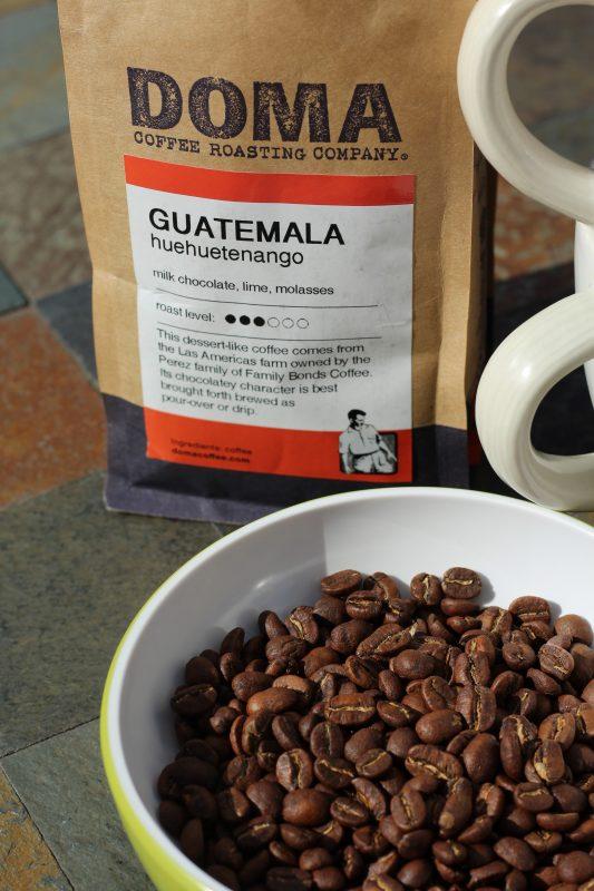 Doma Coffee roasting company Guatemala Huehuetnango coffee beans