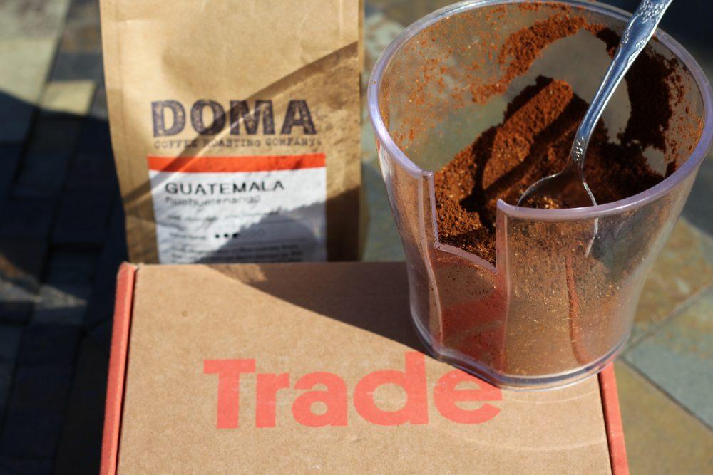 Doma Coffee roasting company Guatemala Huehuetnango coffee beans and pumpkin spice coffee recipe. Coffee review.