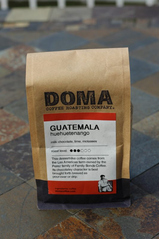 Guatemalan coffee back Doma Guatemala Huehuetenango