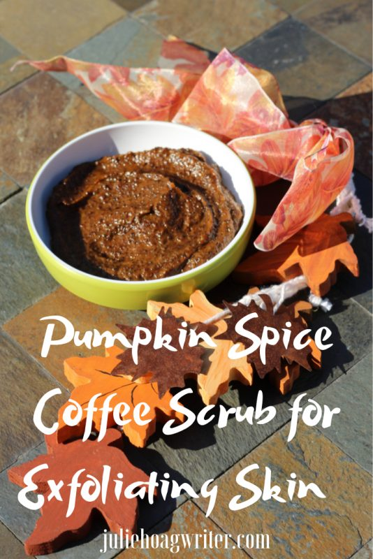 Pumpkin Spice Coffee Scrub for Exfoliating Skin made with essential oils